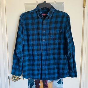 Blue and Black Flannel Shirt